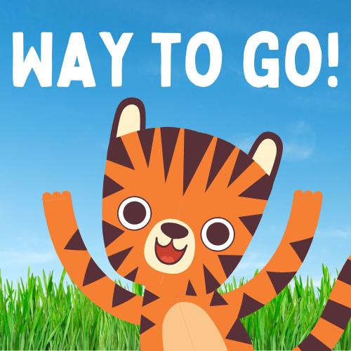 "Bengal Tiger saying ""Way to Go!"""