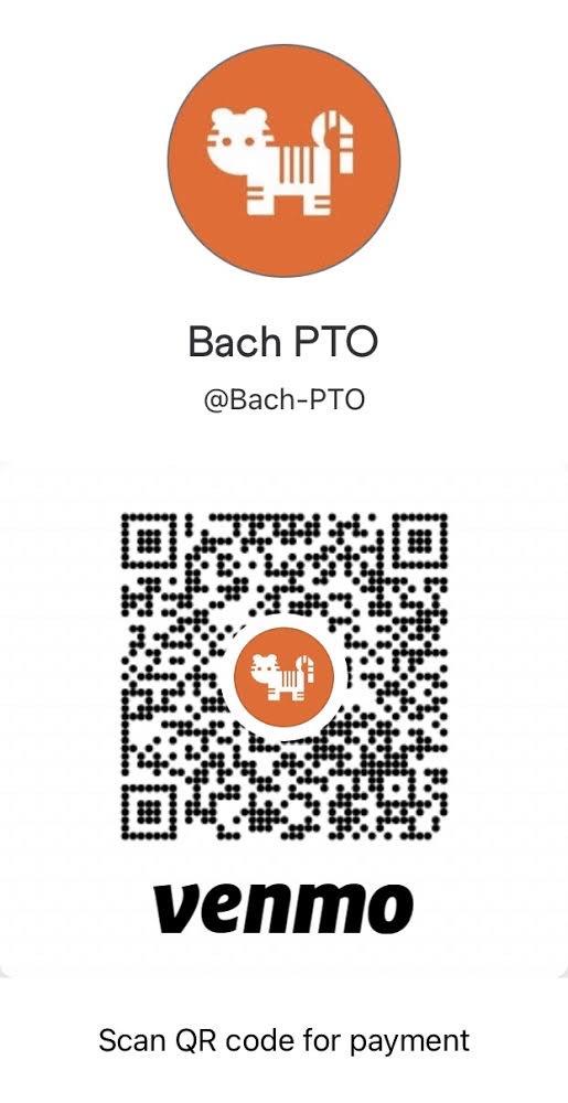 Venmo code for BachPTO